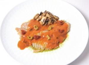354 白身魚の極薄サッと焼き たっぷりの夏野菜ソースで 修